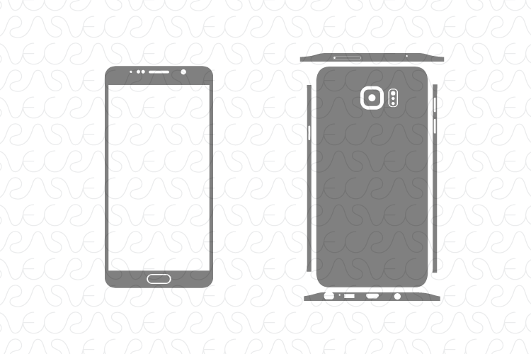 750x500 Samsung Galaxy Note 5 Decal Cut File Vector Template 2015
