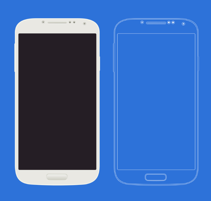800x761 Samsung Galaxy S4 Free Vector Graphic Download