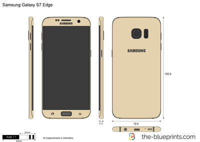 400x283 Samsung Galaxy S7 Edge Vector Drawing