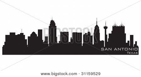 450x245 San Antonio, Texas Skyline. Detailed Vector Silhouette Photo Stock