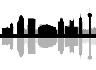 330x240 San Antonio, Texas Skyline. Detailed Vector Silhouette