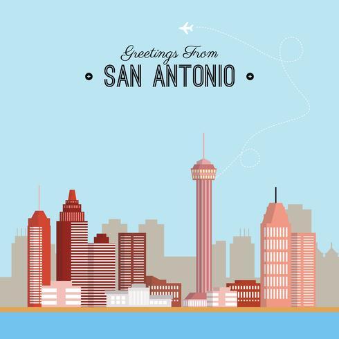 490x490 San Antonio Postcard Illustration