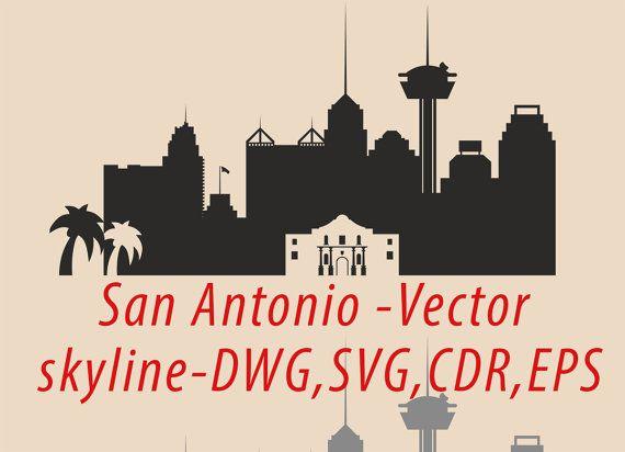 570x412 San Antonio Svg, San Antonio Clipart City Silhouette, San Antonio