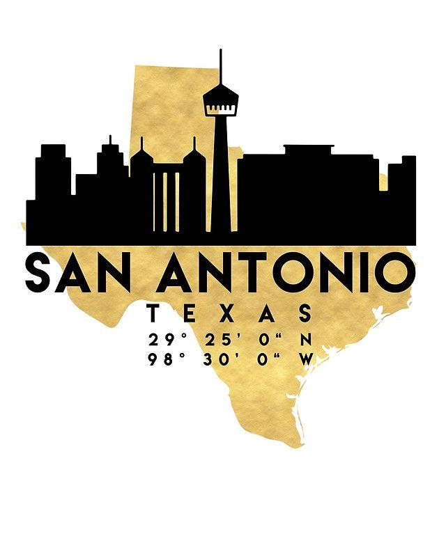 640x800 San Antonio Skyline Abstract Watercolor Texas By 1galleryabove