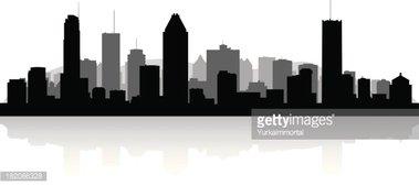 379x169 San Antonio Texas City Skyline Silhouette Stock Vectors
