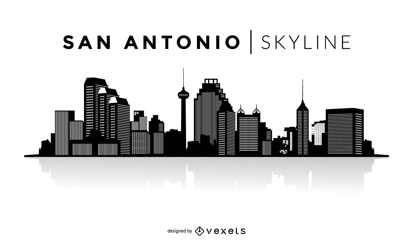 1700x1000 San Antonio Silhouette Skyline