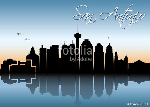500x357 San Antonio Skyline Stock Image And Royalty Free Vector Files On