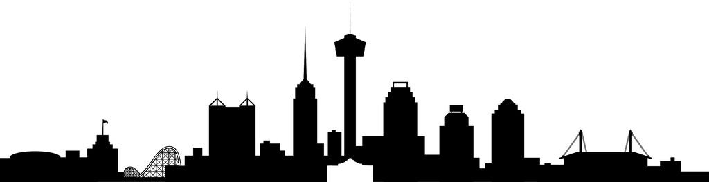 1024x264 Collection Of San Antonio Skyline Clipart High Quality, Free