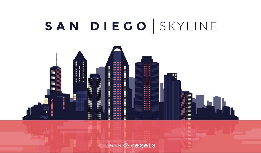 900x529 San Diego Color Skyline