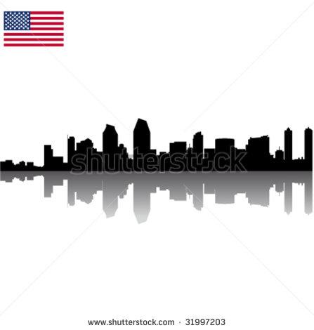 447x470 San Diego Skyline