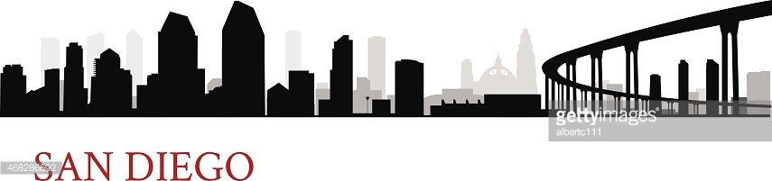 855x201 Collection Of San Diego Skyline Clipart High Quality, Free