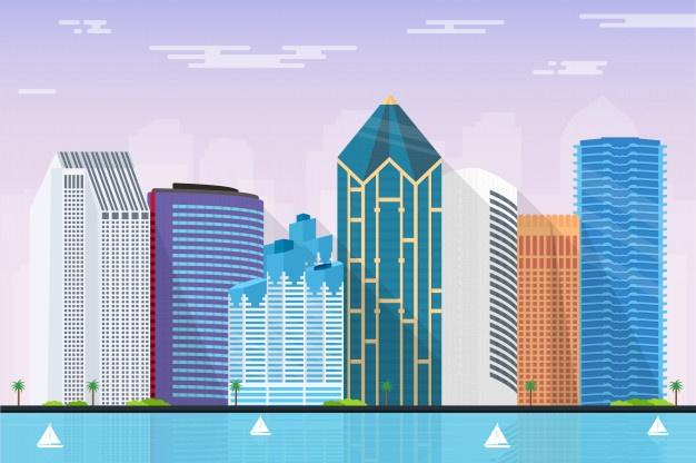 626x416 San Diego Skyline Vectors, Photos And Psd Files Free Download
