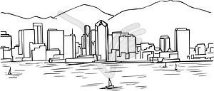 300x128 San Diego Clipart San Diego Skyline