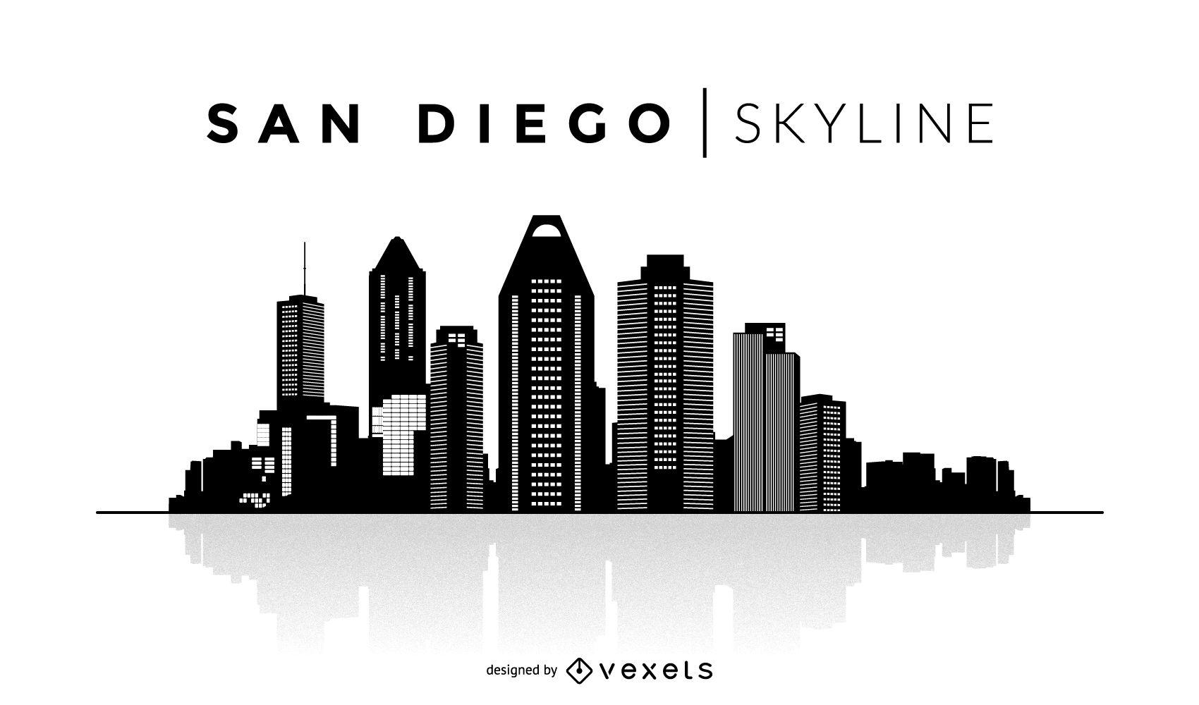 1700x1000 San Diego Silhouette Skyline