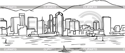 400x171 San Diego Skyline Stock Vector Graphics Cliparto