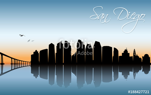 500x313 San Diego Skyline Stock Image And Royalty Free Vector Files On