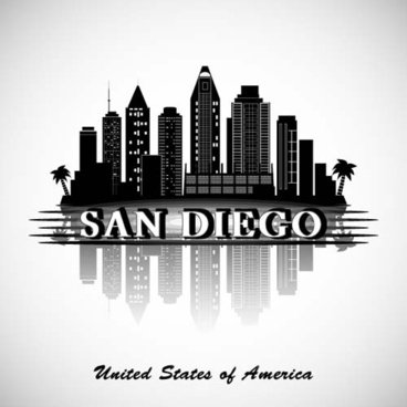 368x368 San Diego City Skyline Vector Free Vector Download (1,468 Free
