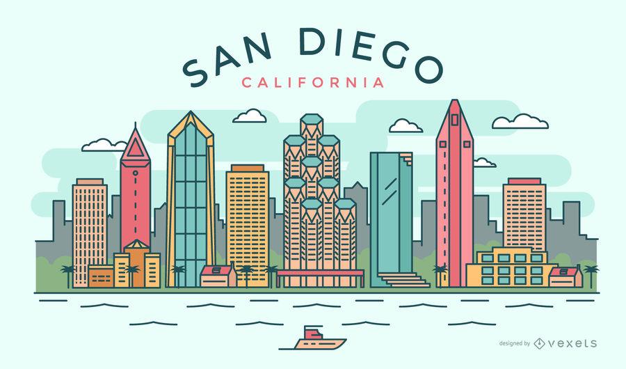 900x530 Stroke San Diego Skyline