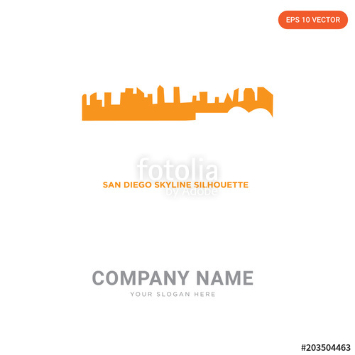 500x500 San Diego Skyline Company Logo Design Stock Image And Royalty