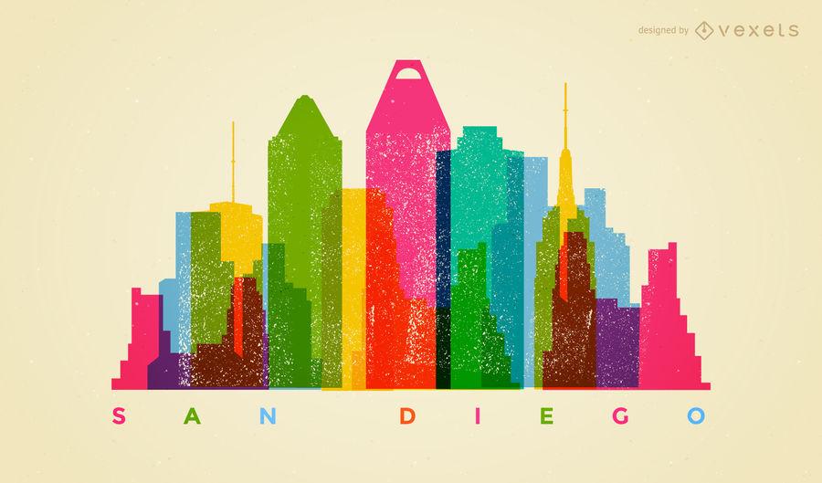 900x529 Colorful San Diego Skyline