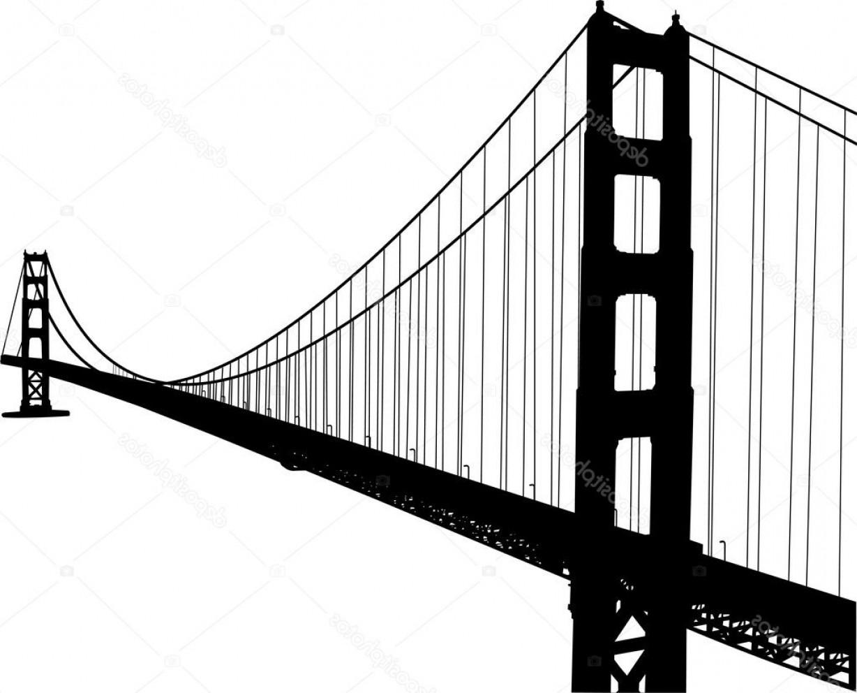 1228x992 Golden Gate Bridge Silhouette Vector Free Shopatcloth