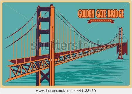 450x320 Golden Gate Bridge Vector Free