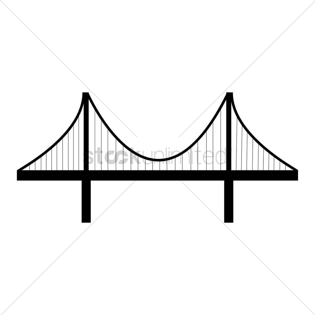 1300x1300 Golden Gate Bridge Vector Image