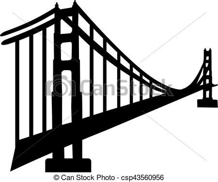 450x376 Silhouette Of Golden Gate Bridge.