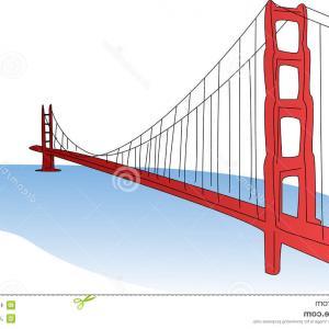 300x300 Stock Illustration Vector Golden Gate Bridge San Francisco Side