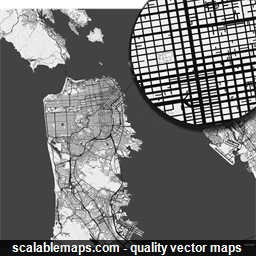 256x256 Scalablemaps Vector Maps Of San Francisco For Illustrator