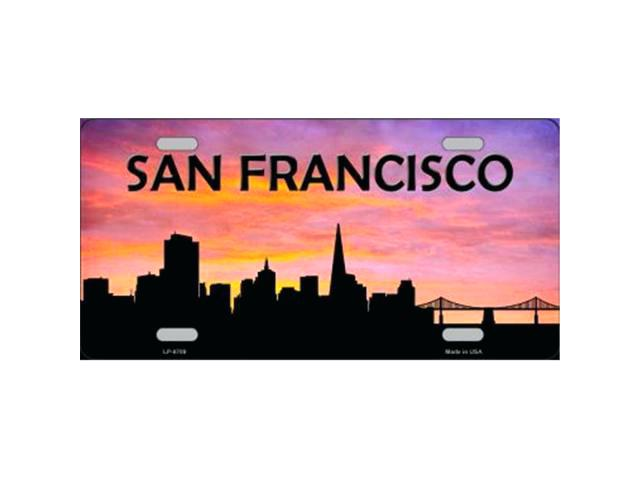 640x480 San Francisco Skyline Silhouette Skyline Silhouette Metal License