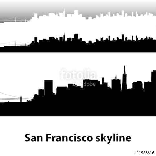 500x500 San Francisco Skyline Stock Image And Royalty Free Vector Files