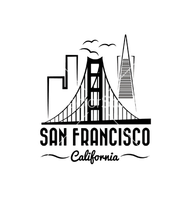 380x400 San Francisco Clipart San Francisco Skyline Clipart