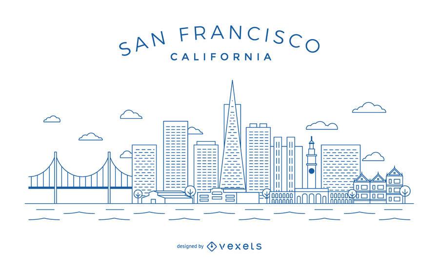 900x552 San Francisco Minimalist Skyline