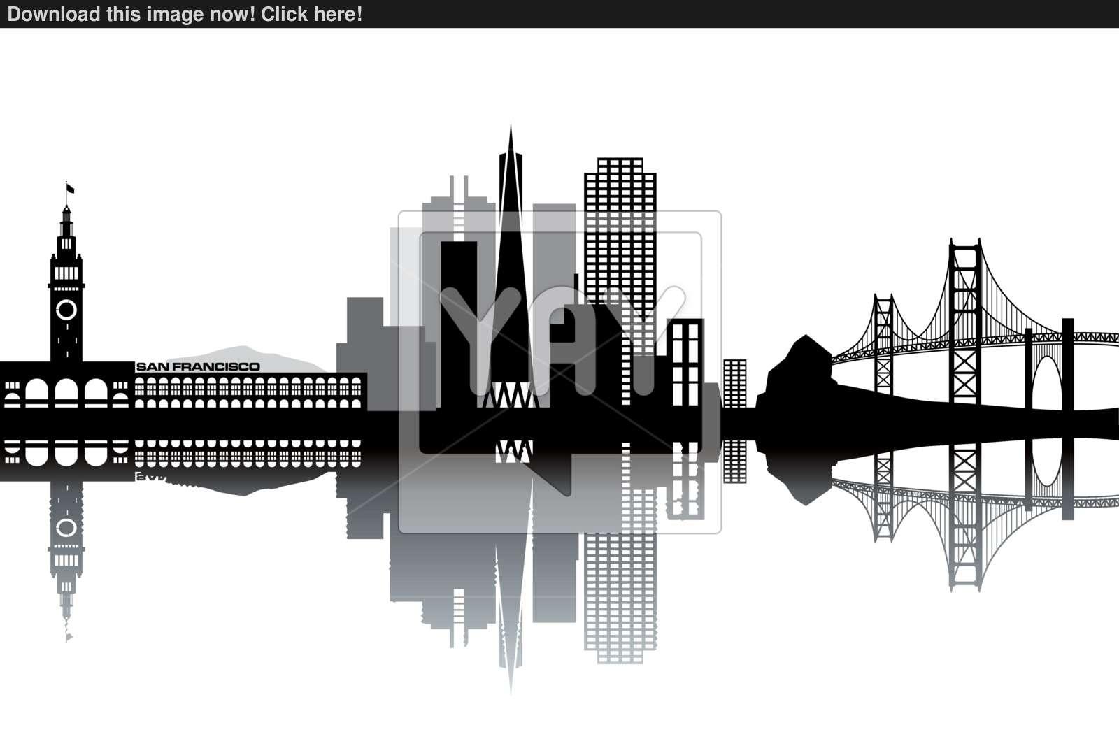 1600x1067 San Francisco Skyline Vector