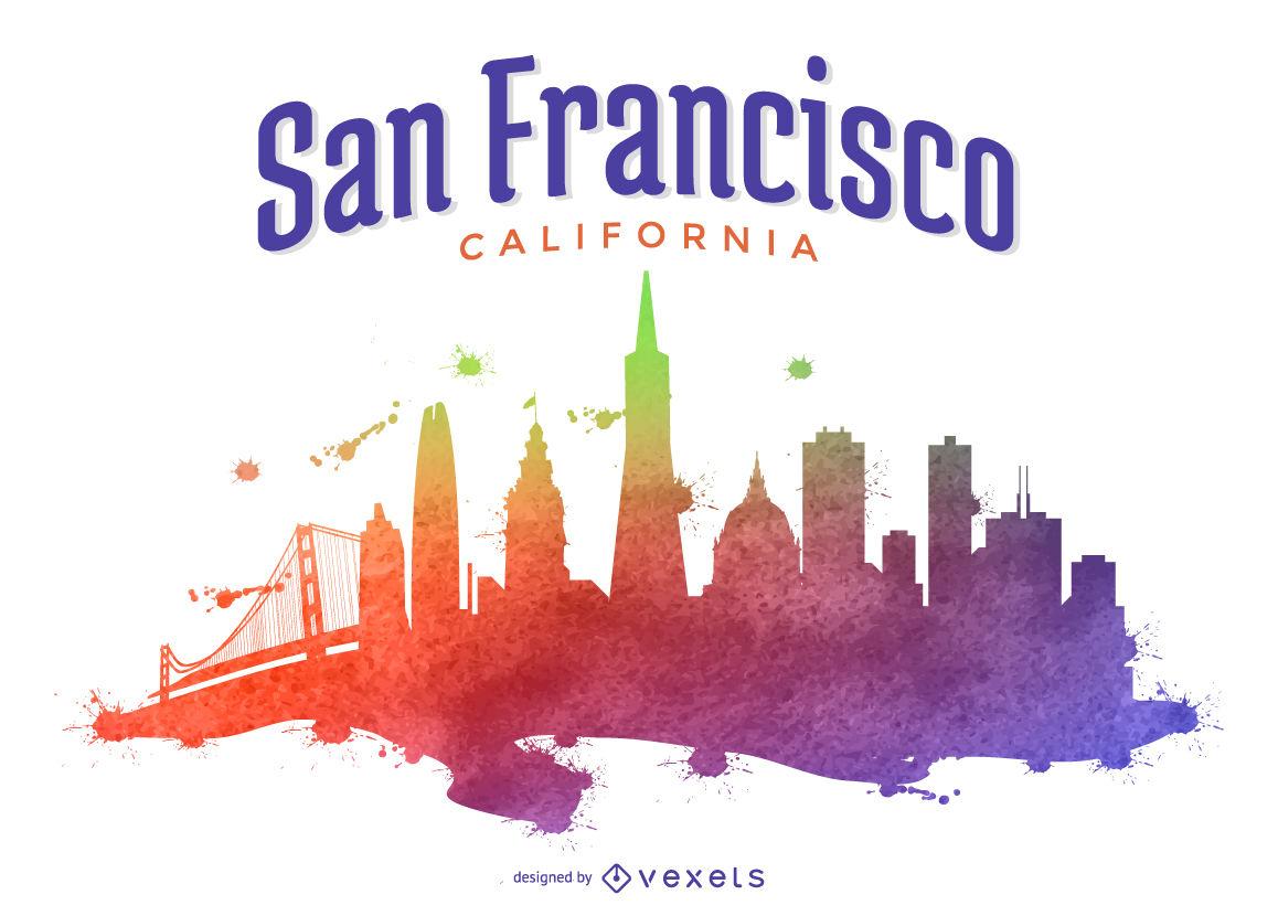 1158x830 San Francisco Skyline With Reflection