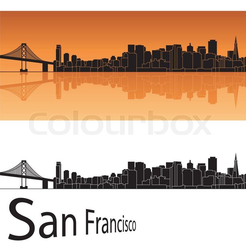 800x800 San Francisco Skyline Stock Vector Colourbox