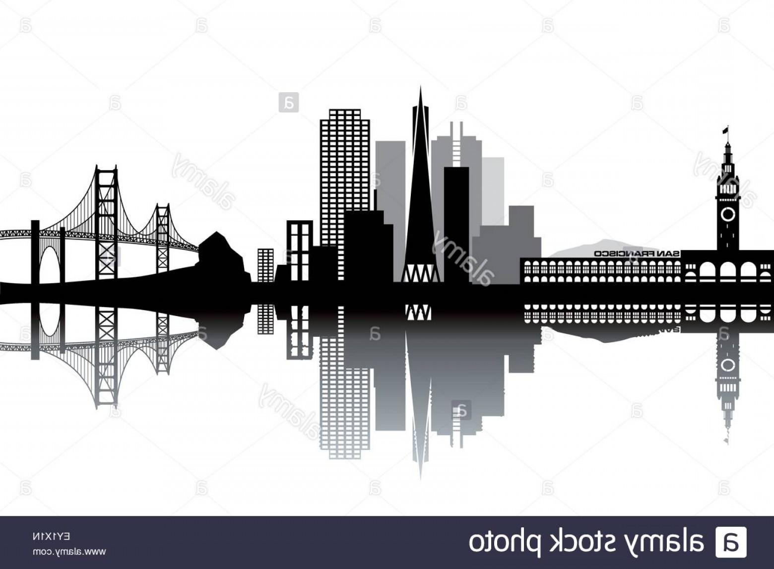 1560x1147 Stock Photo San Francisco Skyline Black And White Vector