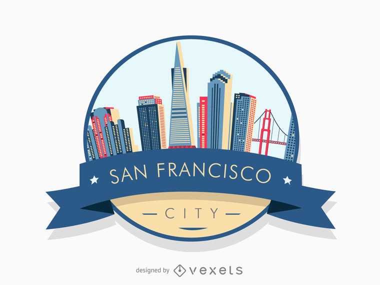 760x570 Graphic Design San Francisco Beautiful San Francisco Badge Skyline