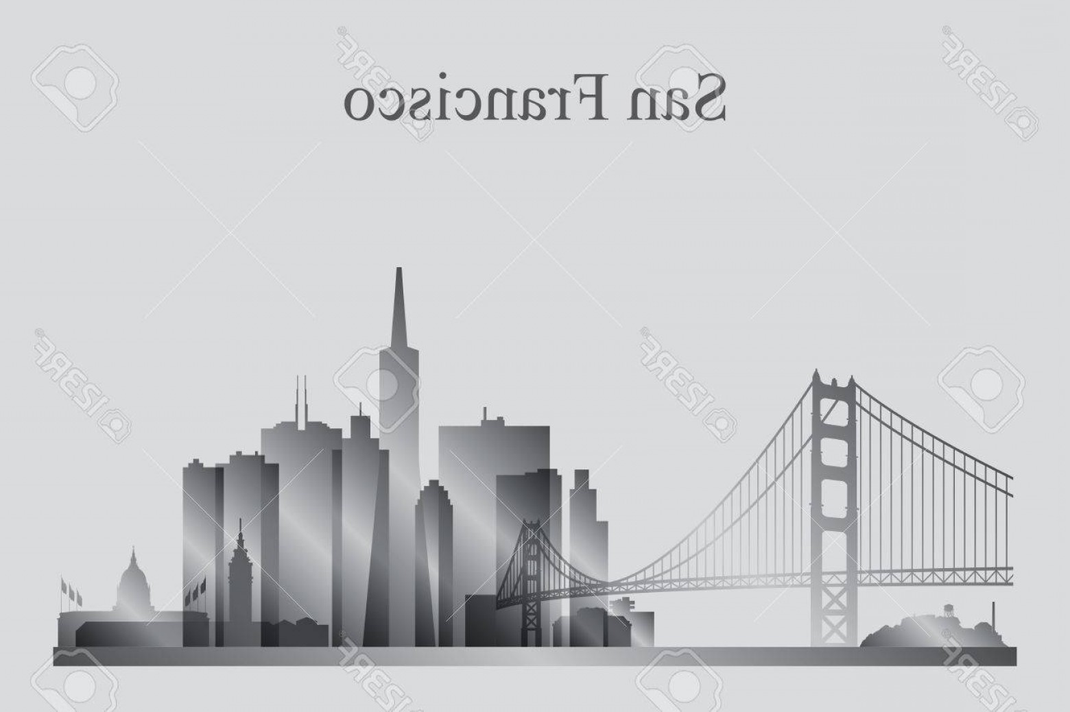 1560x1039 Photostock Vector San Francisco City Skyline Silhouette In