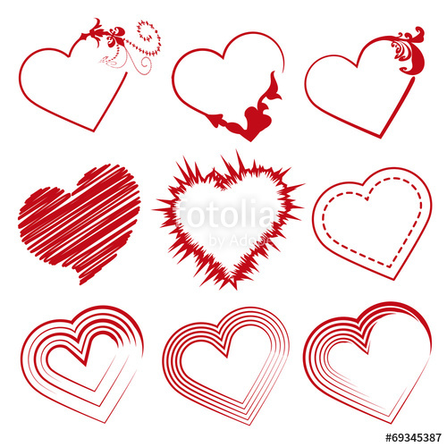 500x500 San Valentin Set Corazones Stock Image And Royalty Free Vector