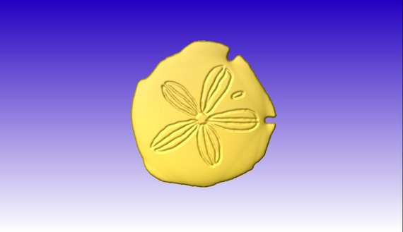 570x329 Sand Dollar Vector Relief Model For Cnc Projects Or Sign Etsy