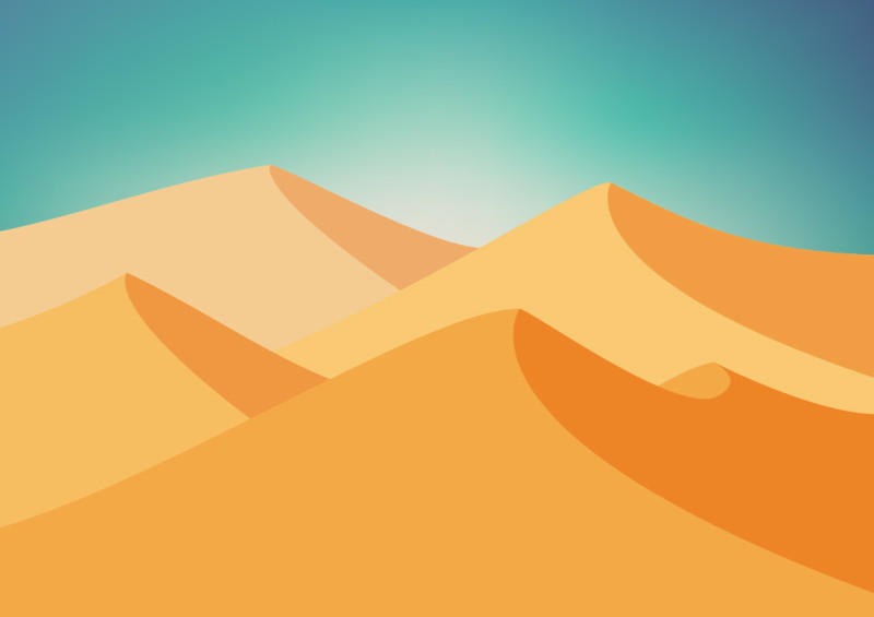 800x565 Vector Desert Landscape Background
