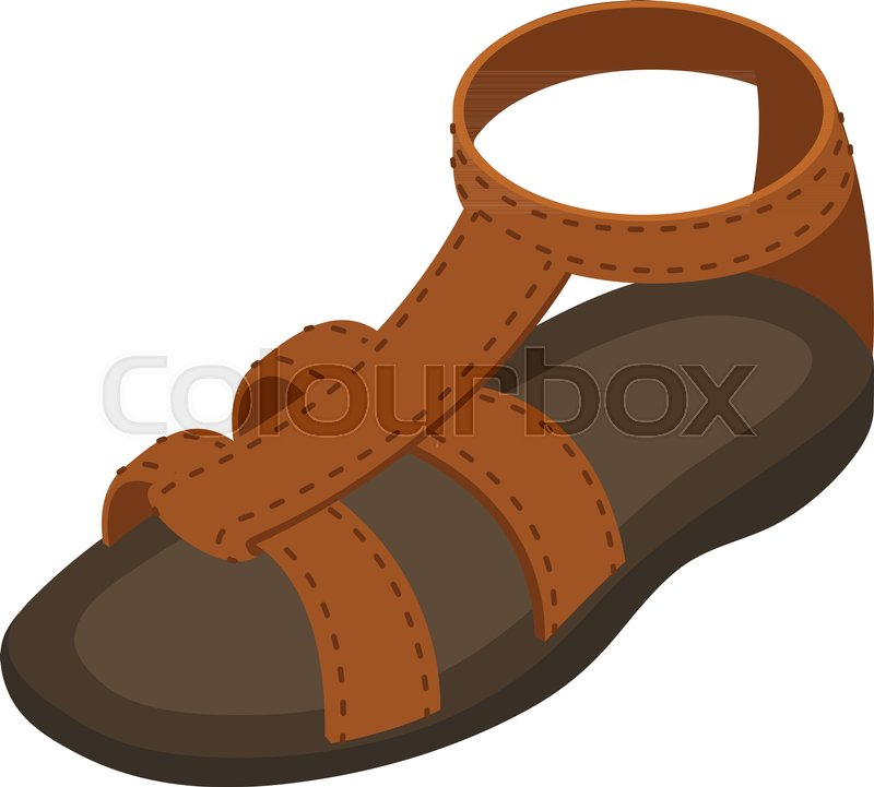 800x721 Summer Sandal Icon. Isometric Illustration Of Summer Sandal Vector