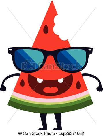 357x470 Cute Watermelon Character Vector Design Cartoon. Cute Watermelon