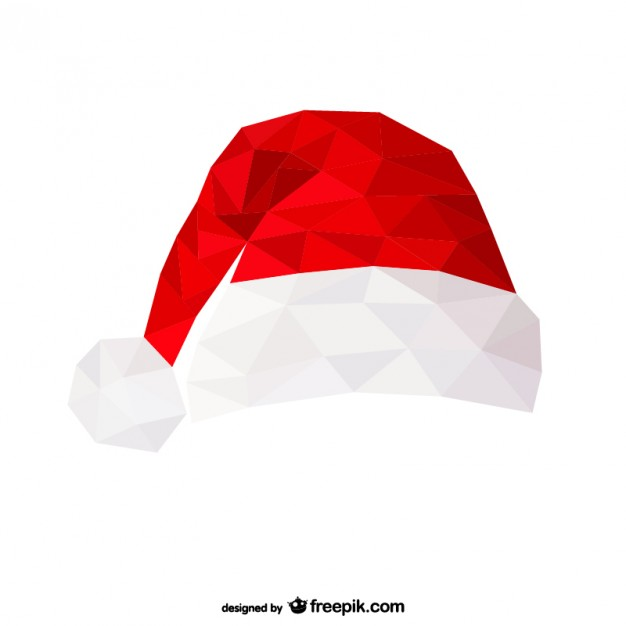 626x626 Polygonal Santa Claus Hat Vector Free Download
