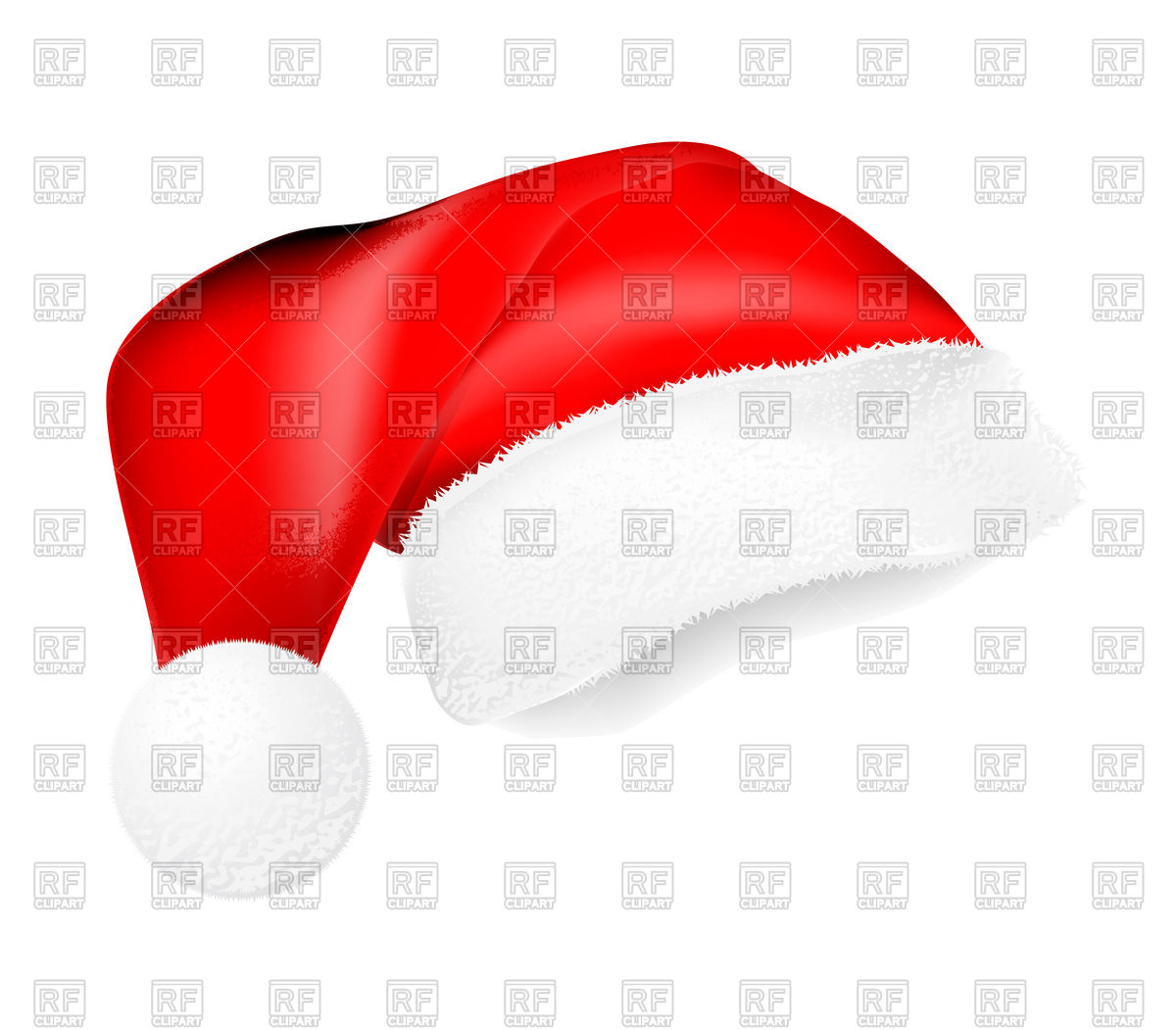 1200x1051 Red Santa Claus Hat Vector Image Vector Artwork Of Objects