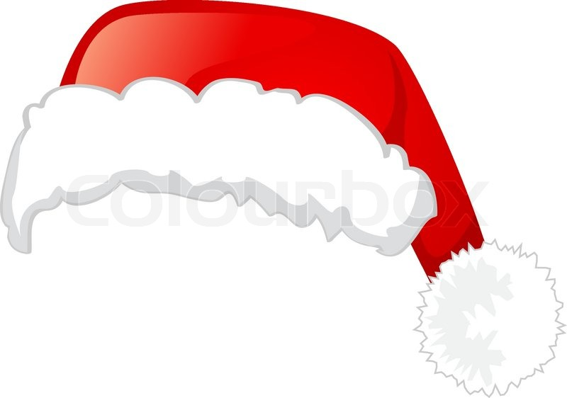 800x562 Santa Claus Hat, Isolated On White Background, Vector Illustration