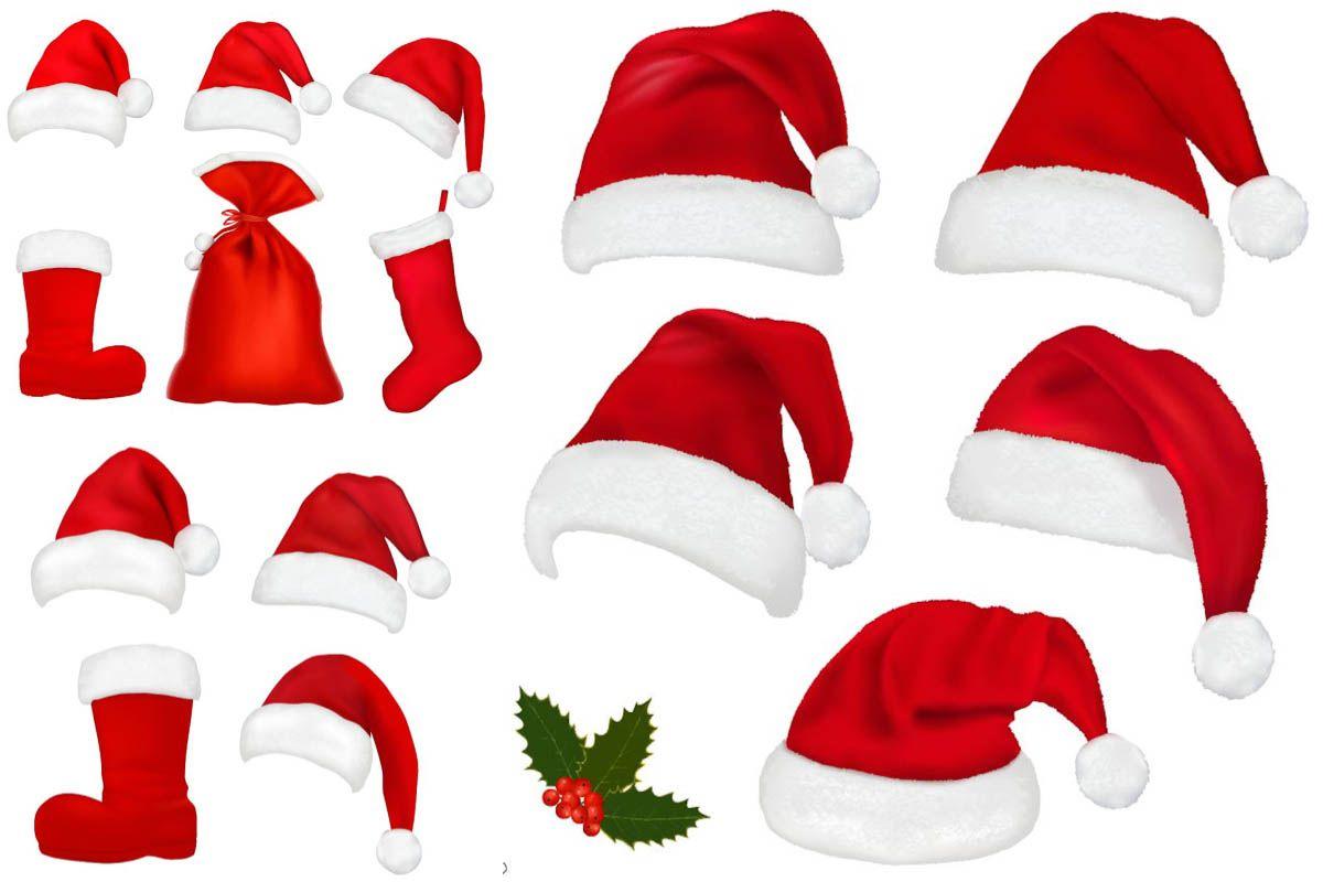 1200x800 Santa Claus Hat Pattern Vector Christmas Vector Clip Art Free
