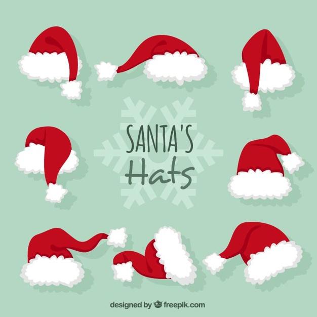 626x626 Santa Claus Hats Vector Free Download